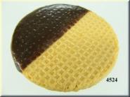 Eiswaffel  rund m. Schokolade