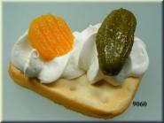 cracker with snack cucumber