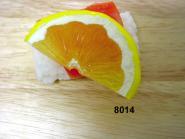 Nigiri-Sushi  Sake m.Zitrone