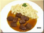 goulash  with noodles