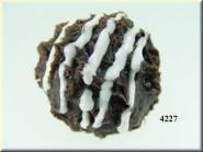 Praline dunkel verziert (VPE=3 Stück)