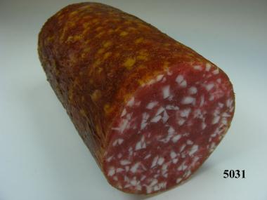 Salami grob, angeschnitten