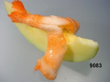 Melone  mit Garnele