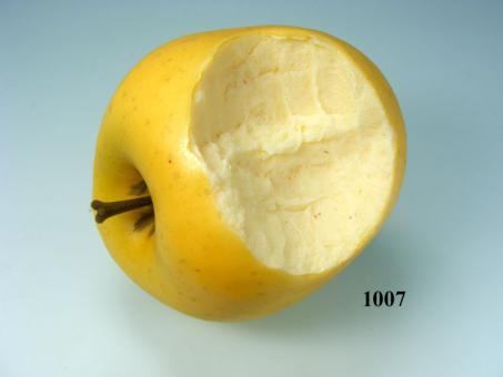 Delicious-Apfel angebissen