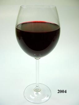 Rotwein Glas langstielig