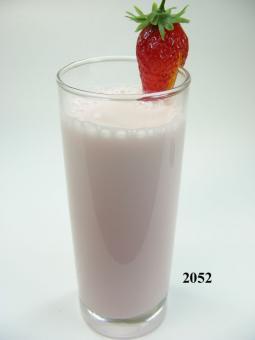Erdbeer-Milch-Shake (echtes Glas)