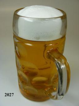 Maßkrug 1 Ltr (echtes Glas)