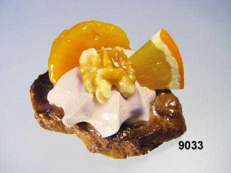 Medaillon  glas.m. Mandarine