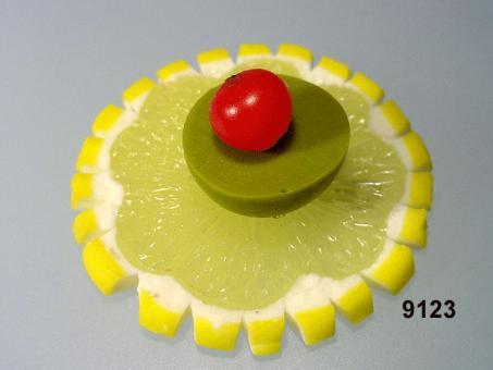 Zitronen-Scheibe / Olive grün