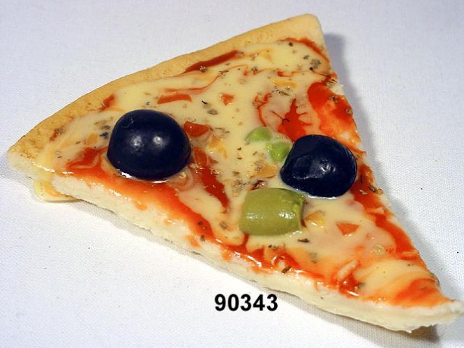 Pizza-Stück Oliven grün+schwarz